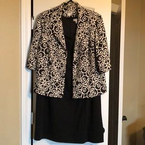 EUC Dressbarn 2 piece suit (dress and jacket) 22W